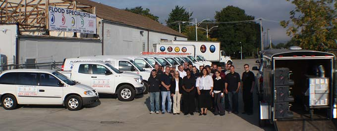 Our water damage specialists at our primary location