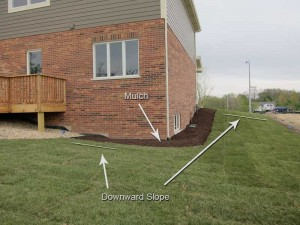 Preventing water damage by grading your landscape away from your house